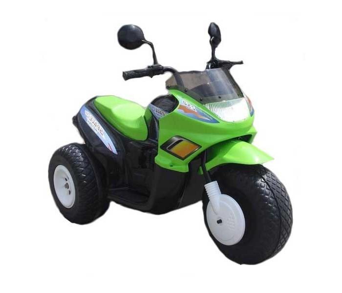 Электромобиль Chien Ti CT-770 Super SpaceCT-770 Super SpaceЭлектромобиль Chien Ti CT-770 Super Space предназначен для маленьких мотогонщиков в возрасте 3-8 лет. Производитель позаботился о безопасности детей, поэтому для производства были использованы лишь надёжные, экологически чистые материалы. Устойчивость и великолепную проходимость мотоциклу обеспечивают большие пластиковые колеса со специальными резиновыми накладками.  Он с лёгкостью преодолеет подъём до 17%. Электромобиль предельно прост в управлении – приходит в движение при одном нажатии на педаль. Мотоцикл оснащен 2-я перезаряжаемыми аккумуляторными батареями - 6V/12АН. Комфортное размещение гарантирует эргономичная форма детского сидения.  Этот детский трехколесный мотоцикл – универсальное средство передвижения не только по двору и парковым дорожкам, но также он может легко справиться с бездорожьем, поэтому на нём можно кататься по полю или другой не очень ровной рельефной местности. В электромобиле имеется возможность регулировать скорость - есть две передние передачи и задняя. Процесс езды помогут сделать более радостным и весёлым музыкальный руль, фара ближнего света и зеркала заднего вида.   Особенности: две скорости движения вперед + задняя скорость; первая скорость – 3, 5 км/час; вторая скорость – 7 км/час; задняя скорость – 3, 5 км/час; акселератор и тормоз совмещены в одной педали (ребенок нажал на педаль - мотоцикл поехал, отпустил педаль - мотоцикл остановился); два ведущих колеса; все колеса с резиновыми накладками; свет фары при езде вперед; кнопка со звуковыми мелодиями; зеркала заднего вида; закрытый низ корпуса; длина 102,7 см; ширина 53,5 см; высота 79 см;<br>