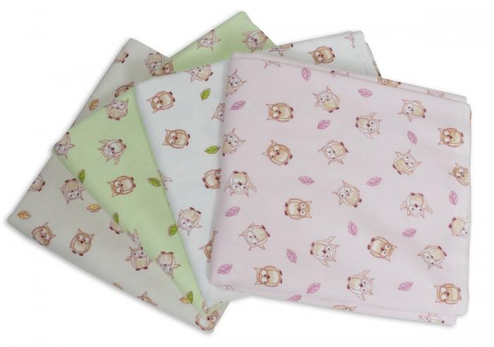 Пеленка Чудо-чадо для новорожденных фланелевая Дочке Совушки 4 шт.