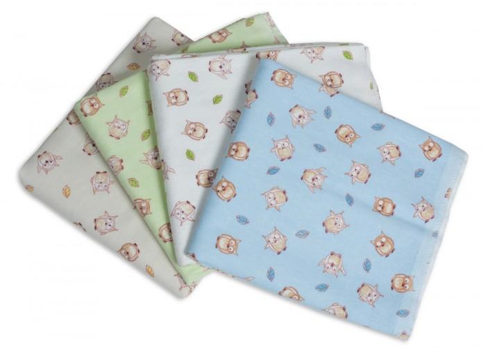 Пеленка Чудо-чадо для новорожденных фланелевая Сыночку Совушки 4 шт.