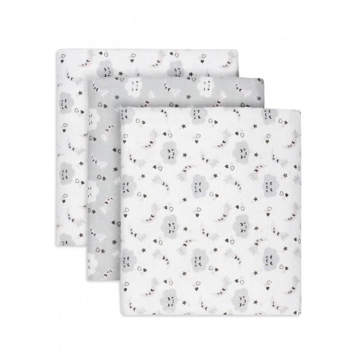 Пеленка Чудо-чадо для новорожденных фланелевая Засыпайка 3 шт.