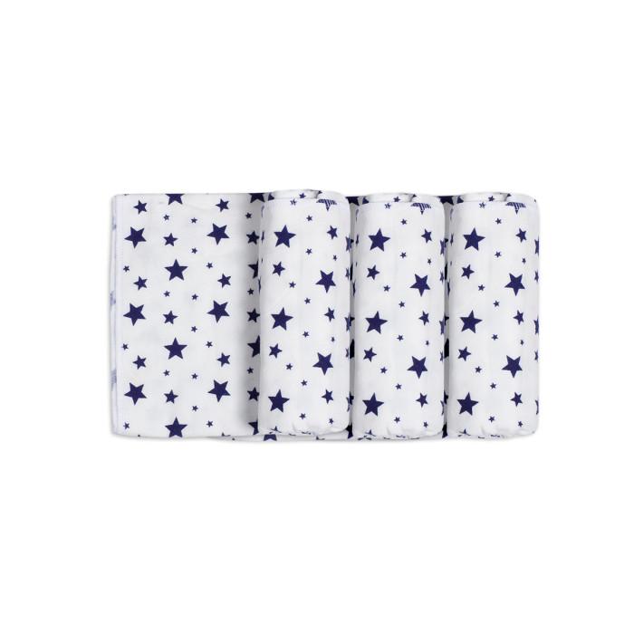 Пеленка Чудо-чадо для новорожденных фланелевая Тейка Звезды 3 шт.