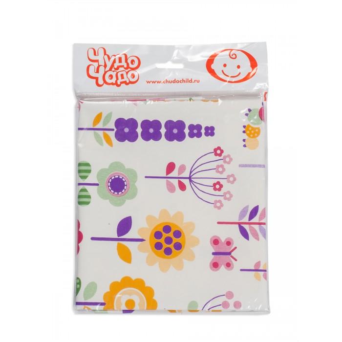 Детские клеенки Чудо-чадо Клеенка детская в кроватку Цветочки 100x140 см