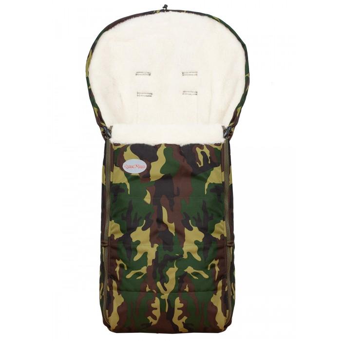 Купить Конверты для новорожденных, Чудо-чадо Конверт в коляску меховой Frost Камуфляж