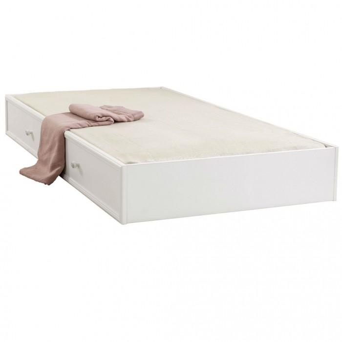Cilek Выдвижное спальное место Romantic 90x190 смАксессуары для мебели<br>Cilek Выдвижное спальное место Romantic 90x190 см – это высокое качество, функциональность и привлекательный внешний вид.   Это отличная мебель для девочек, она выполнена в теплых, нежных тонах, которые сделают любую комнату более светлой, придадут ей изящества и привлекательности. Выдвижные кровати обычно используют при недостатке в свободном пространстве, но не стоит думать, будто бы такие кровати не удобны.   Конечно, обычно они востребованы, как дополнительные спальные места в небольших комнатах, но для их производства применяют все те же качественные материалы, что и для создания стандартных детских кроватей.   Одновременное использование классической кровати из серии Romantic с выдвижной кроватью того же производителя позволяет создать некое подобие двухъярусной кровати, с той лишь разницей, что такая конструкция не только не занимает лишнего места, но еще и является совершенно безопасной, а также отлично сочетается с любым интерьером.  Помимо удобства и внешнего вида, девочки также оценят наличие дополнительных ящиков, которые можно будет использовать для хранения кукол, игрушек и собственных небольших вещей.   В детской комнате юной леди дополнительные шкафчики и ящички никогда не будут лишними.  Размеры: Длина: 193 см Ширина: 96 см Высота: 24 см