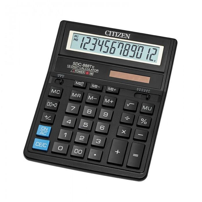 Канцелярия Citizen Калькулятор настольный SDC-888TII 12 разрядов калькулятор citizen sdc 395n sdc 395 n