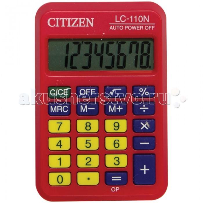 Канцелярия Citizen Калькулятор карманный LC-110N 8 разрядов калькулятор научный citizen srp 145n 8 2 разряда черный 86 функций питание от батареи арт srp145n