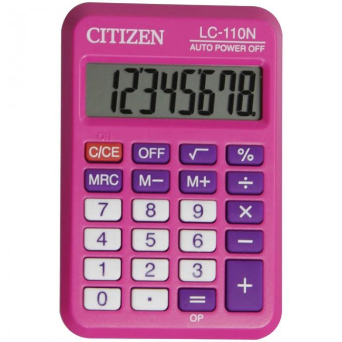 Канцелярия Citizen Калькулятор карманный LC-110N 8 разрядов калькулятор карманный сitizen sld 7708 8 разрядов