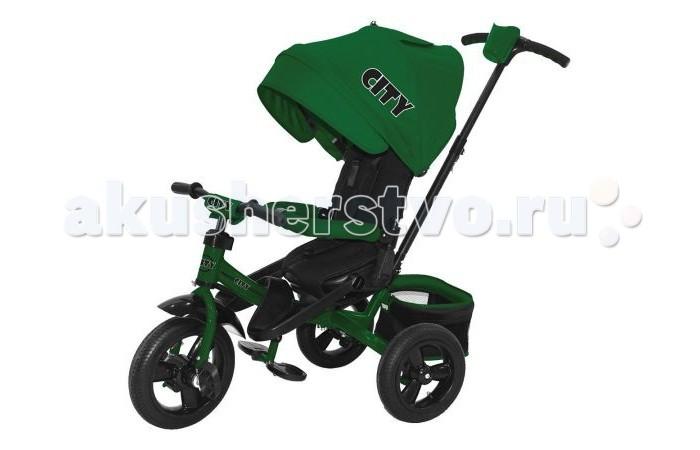 Велосипед трехколесный City JC5SJC5SВелосипед трехколесный City JC5S для катания детей эконом сегмента.  Легкий, удобный, маневренный транспорт для детей, быстрый в сборке. Все велосипеды этой марки - максимально комфортные, безопасные, стильные и качественные.  Особенности: Детский комфорт обеспечивают мягкие накладки на дугах защитного бордюра и руле, прорезиненные накладки на руле, мягкий чехол детского сиденья и подголовник, защитный капюшон с прозрачным окошком У велосипеда-коляски есть подножка для самых маленьких Уникальная характеристика этого велосипеда - вращающееся сиденье Алюминиевая рама Регулировка высоты ручки  Наклон спинки сиденья Свободный ход переднего колеса. Теперь Ваш малыш может крутить руль влево и вправо, не мешая при этом Вам управлять велосипедом Телескопическая ручка Надувные колеса 12 и 10 Задний ножной тормоз Складной капюшон Два варианта подножек Разъемный бордюр безопасности Трехточечный ремень безопасности Подстаканник на родительской ручке<br>
