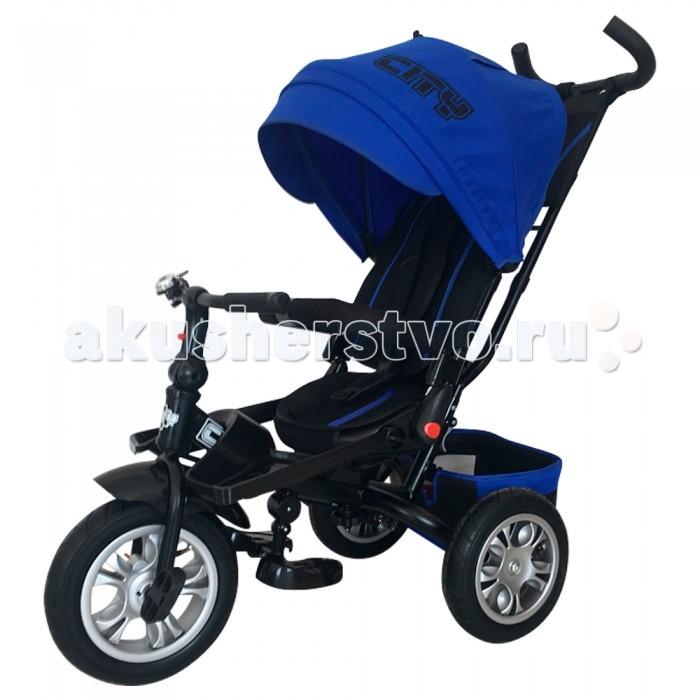 Велосипед трехколесный City JD5JD5Велосипед трехколесный City JD5 для катания детей эконом сегмента.  Легкий, удобный, маневренный транспорт для детей, быстрый в сборке. Все велосипеды этой марки - максимально комфортные, безопасные, стильные и качественные.  Особенности: Детский комфорт обеспечивают мягкие накладки на дугах защитного бордюра и руле, прорезиненные накладки на руле, мягкий чехол детского сиденья и подголовник, защитный капюшон с прозрачным окошком У велосипеда-коляски есть подножка для самых маленьких Уникальная характеристика этого велосипеда - вращающееся сиденье Алюминиевая рама Регулировка высоты ручки  Наклон спинки сиденья Свободный ход переднего колеса. Теперь Ваш малыш может крутить руль влево и вправо, не мешая при этом Вам управлять велосипедом Телескопическая ручка Надувные колеса 12 и 10 Задний ножной тормоз Складной капюшон Трехточечный ремень безопасности<br>