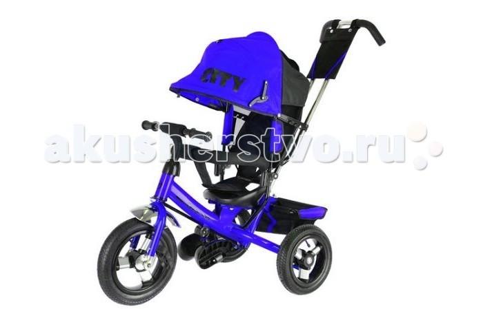 Детский транспорт , Трехколесные велосипеды City JD7 надувные колеса 10/8 арт: 370163 -  Трехколесные велосипеды