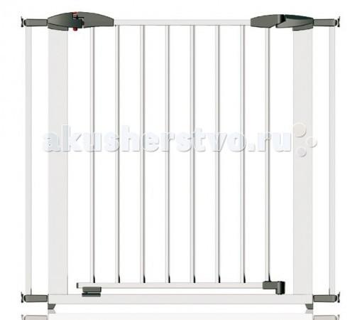 Clippasafe Ворота безопасности Swing Shut Gate 72,5-95 смВорота безопасности Swing Shut Gate 72,5-95 смВорота безопасности Clippasafe CL1300 для детей имеют специальную систему блокировки. Даже если вы, ошибочно пройдя через ворота, забудете их закрыть, они заблокируются сами и ребенок уже не сможет через них проникнуть.  Данные ворота безопасности рассчитаны на детей до 2-х лет. Будьте внимательны: дети старшего возраста могут перелезать через ворота. Ворота предназначены для установки в дверных проемах и на лестницах. Убедитесь, что поверхность, к которой Вы собираетесь крепить ворота, подходит для этих целей и имеет устойчивую структуру.  Легко устанавливается по принципу распорок, что делает возможным установить ворота без применения дрели, а так же порчи стен и дверных проемов. Высота: от высшей точки ворот до пола: 78 см  Артикул: CL130 Цвет: белый Материал: металл  Артикул: CL132 Материал: металл, дерево<br>