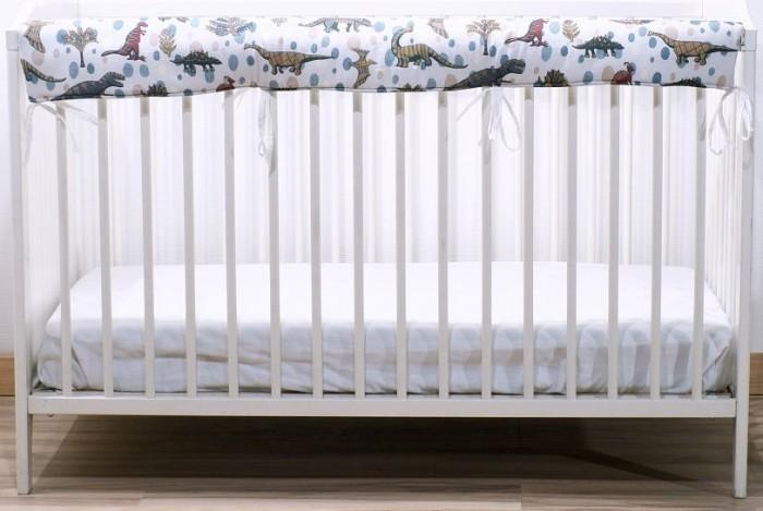 Купить Бортики в кроватку, Бортик в кроватку Cloud Factory Горизонтальный фенс-бампер Dino Security