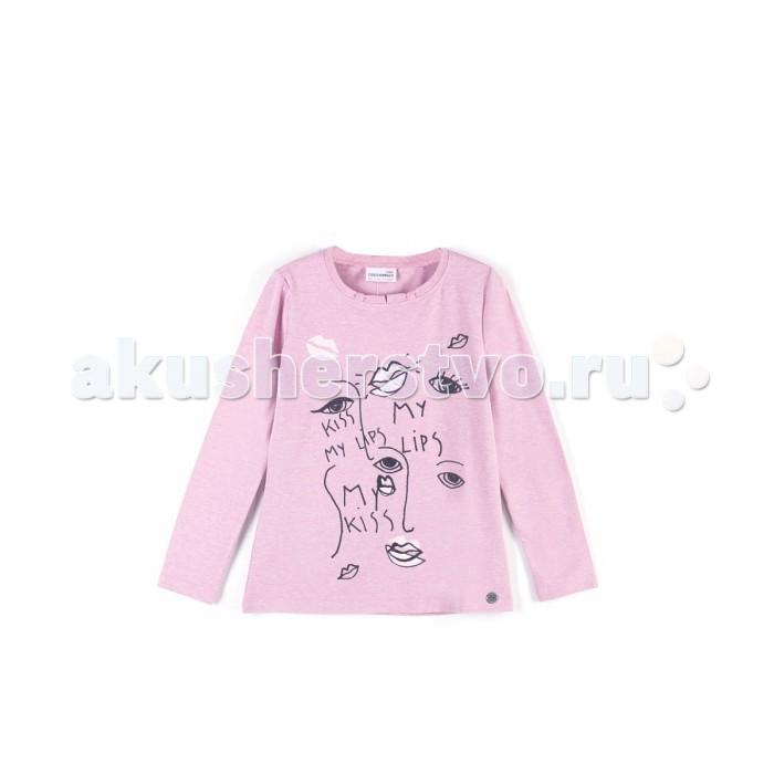 Детская одежда , Водолазки и лонгсливы Coccodrillo Футболка для девочки Lips J17143103LIP-007 арт: 388689 -  Водолазки и лонгсливы