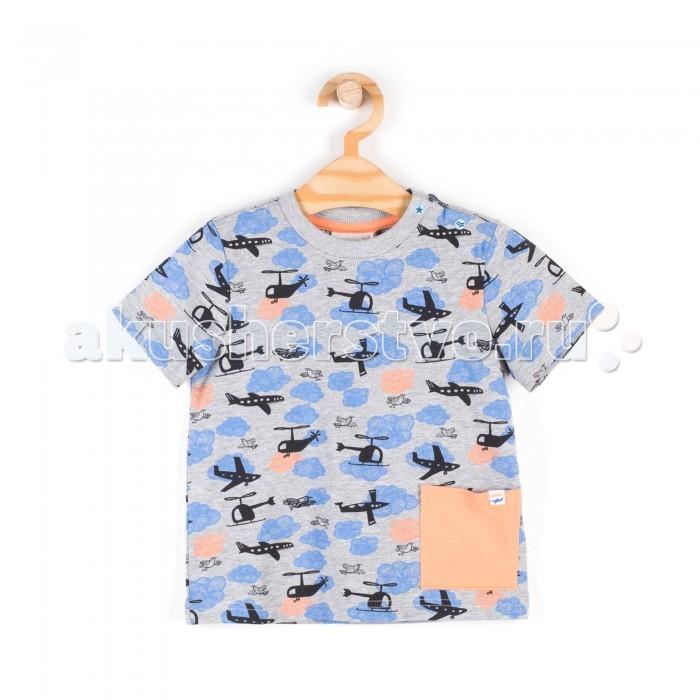Футболки и топы Coccodrillo Футболка короткий рукав для мальчика Aircrew omili европы и старые flash diy ветер ветер района хлопок платье карман v шеи короткий рукав футболки