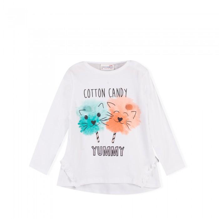 Детская одежда , Водолазки и лонгсливы Coccodrillo Футболка с длинным рукавом Cotton Candy арт: 468451 -  Водолазки и лонгсливы