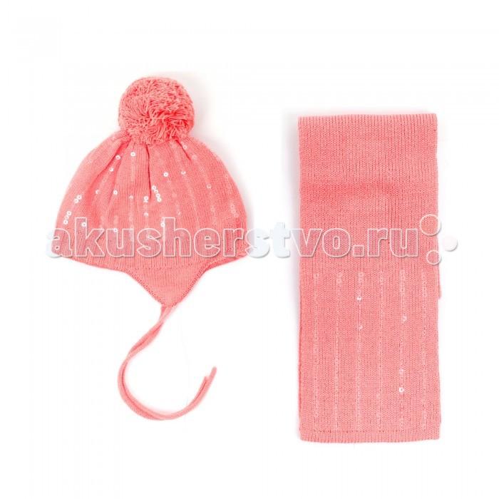 Детская одежда , Шапочки и чепчики Coccodrillo Комплект (шапка и шарф) для девочки Pretty Bows арт: 381089 -  Шапочки и чепчики
