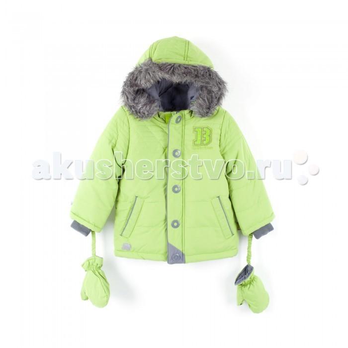 Coccodrillo Куртка BusКуртка Bus&#8203;Coccodrillo Куртка Bus с капюшоном и отстегивающимися варежками на резинке, 2 кармана.   Застежка на молнию с защитной планкой с декоративными элементами. Капюшон с отделкой искусственным мехом серого цвета. На рукавах манжеты-резинки, на груди небольшая нашивка.  Состав: 100% полиэстер Уход за изделием: автомат до 40%.<br>