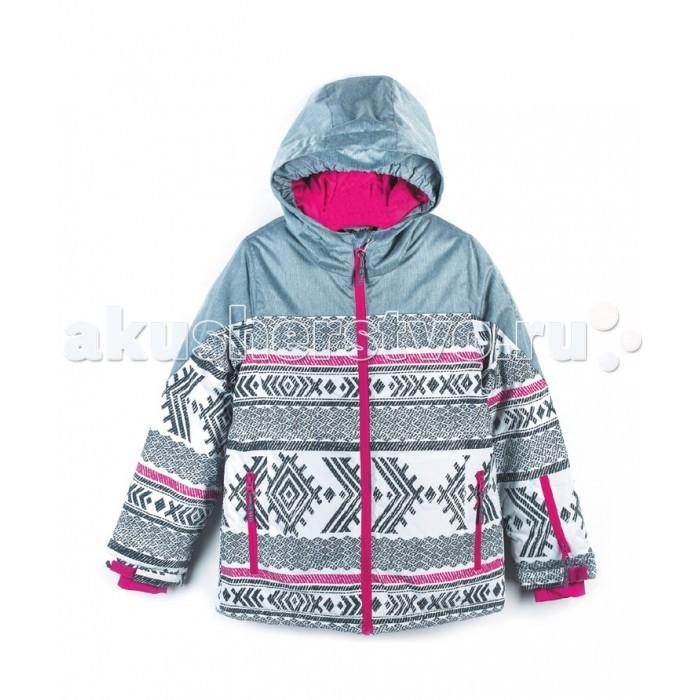 Coccodrillo Куртка для девочки Snowboard girlКуртка для девочки Snowboard girlКуртка для девочки  Coccodrillo Snowboard girl. Удобная куртка из комбинированного материала застегивается на молнию с защитой для подбородка спереди. Длинные рукава с эластичной резинкой по краям, воротник-стойка и  капюшон. На одном из рукавов карман. По бокам карманы на молнии.<br>