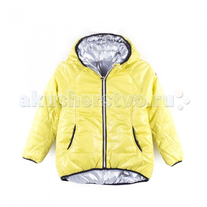Coccodrillo Куртка для девочки Wild at HeartКуртка для девочки Wild at Heart&#8203;Coccodrillo Куртка для девочки Wild at Heart стильная двухсторонняя стеганая куртка с капюшоном.   Два удобных кармана на молнии по бокам. Благодаря узкой эластичной резинке по краям она надежно защищает от ветра и холода. Практичная застежка-молния, окантовка на длинных рукавах и снизу придают модели выразительность.  Состав: 100% полиэстер Уход за изделием: автомат до 40%<br>