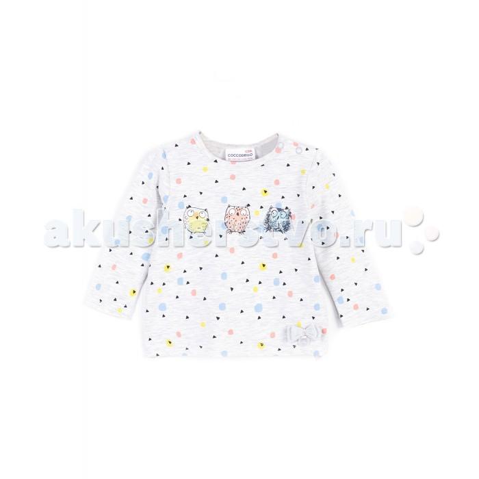 Детская одежда , Водолазки и лонгсливы Coccodrillo Лонгслив для девочки Family Forest J17143101FAM-003 арт: 404839 -  Водолазки и лонгсливы