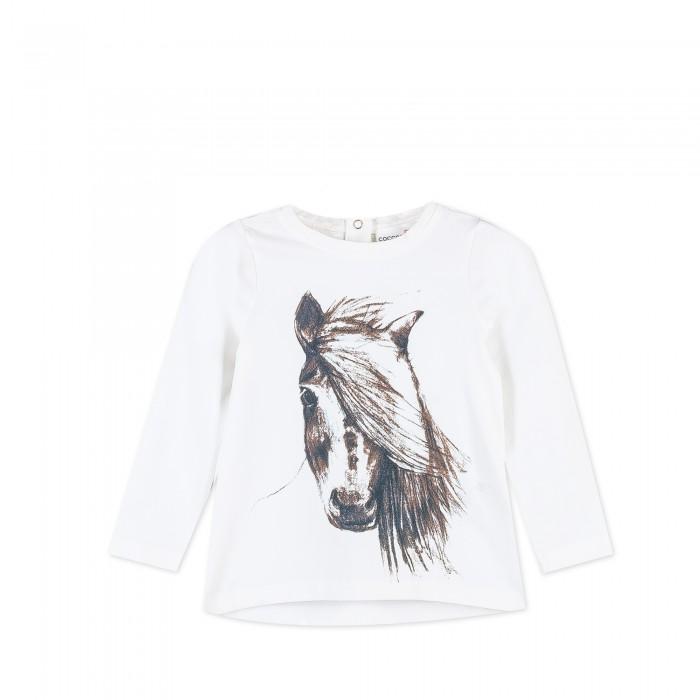 Детская одежда , Водолазки и лонгсливы Coccodrillo Лонгслив для девочки Horses арт: 403414 -  Водолазки и лонгсливы