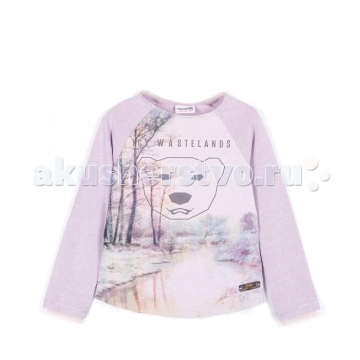 Детская одежда , Водолазки и лонгсливы Coccodrillo Лонгслив для девочки Icy Wasterlands арт: 379944 -  Водолазки и лонгсливы