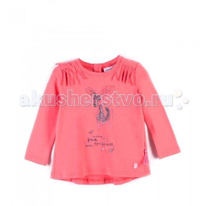 Детская одежда , Водолазки и лонгсливы Coccodrillo Лонгслив для девочки J17143101FOR Forest heart арт: 403444 -  Водолазки и лонгсливы