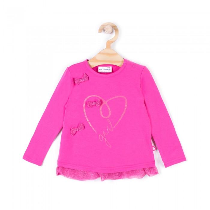 Детская одежда , Водолазки и лонгсливы Coccodrillo Лонгслив для девочки Sweet heart арт: 409209 -  Водолазки и лонгсливы