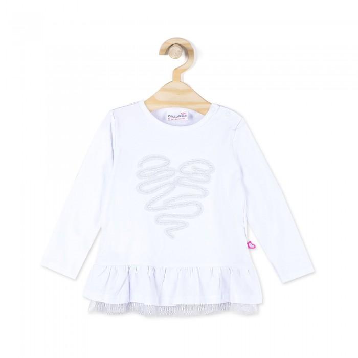 Детская одежда , Водолазки и лонгсливы Coccodrillo Лонгслив для девочки Z17143102SWE Sweet heart арт: 409219 -  Водолазки и лонгсливы