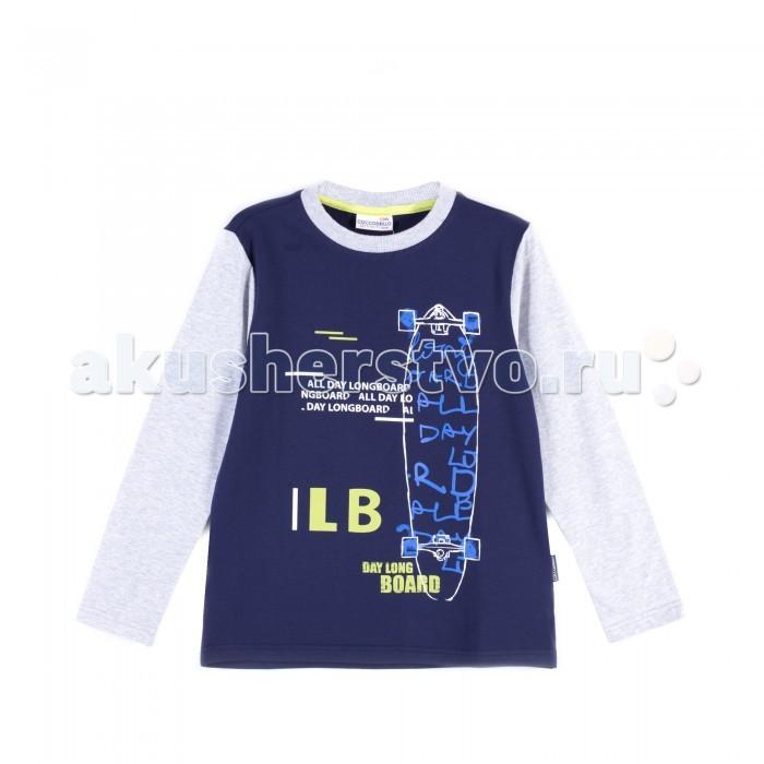 Детская одежда , Водолазки и лонгсливы Coccodrillo Лонгслив для мальчика J17143101LON Longboard арт: 403934 -  Водолазки и лонгсливы