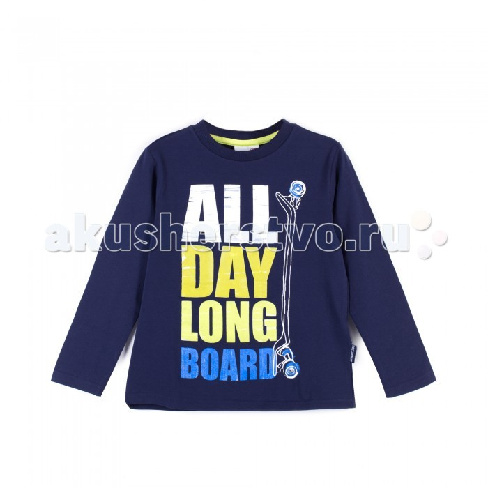 Детская одежда , Водолазки и лонгсливы Coccodrillo Лонгслив для мальчика J17143103LON Longboard арт: 403989 -  Водолазки и лонгсливы