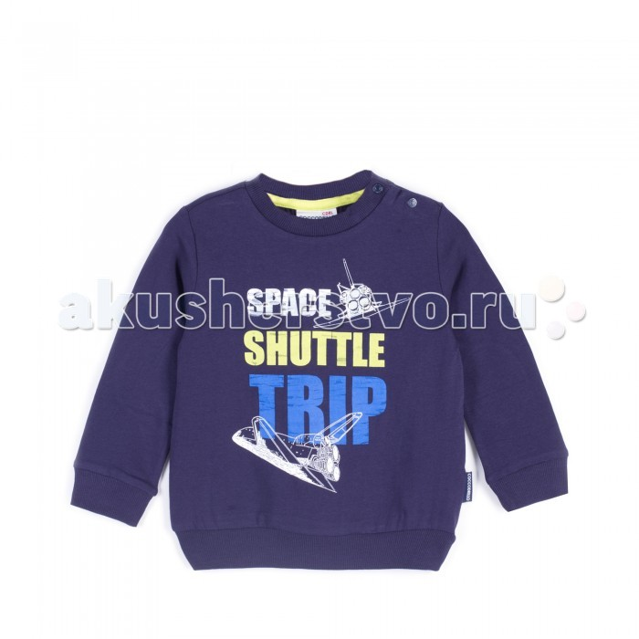 Детская одежда , Водолазки и лонгсливы Coccodrillo Лонгслив для мальчика J17143105SPA Space арт: 404029 -  Водолазки и лонгсливы