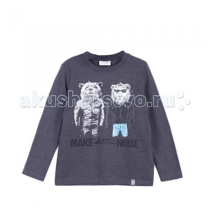 Детская одежда , Водолазки и лонгсливы Coccodrillo Лонгслив для мальчика Noise J17143101NOI-020 арт: 410054 -  Водолазки и лонгсливы