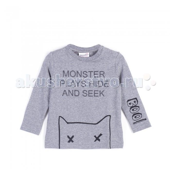 Детская одежда , Водолазки и лонгсливы Coccodrillo Лонгслив для мальчика Z17143105BOO Boo арт: 403304 -  Водолазки и лонгсливы
