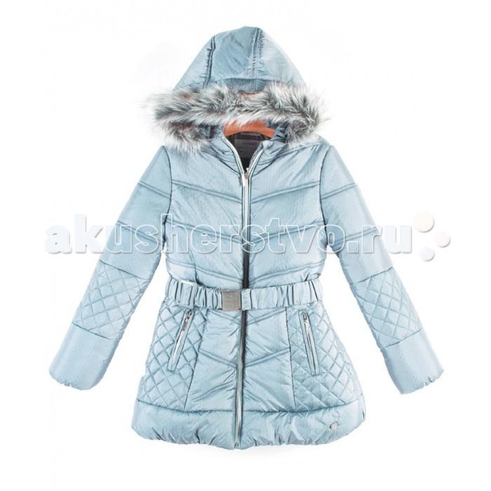 Coccodrillo Пальто для девочки StyleПальто для девочки Style&#8203;Coccodrillo Пальто для девочки Style простежка, эластичный пояс, сплошная молния спереди, эластичная окантовка в рубчик, съемный капюшон с пушистым искусственным мехом.   В рукавах удобные манжеты на резинке. Два втачных кармана на молнии спереди позволят взять с собой необходимые мелочи.  Состав: 100% полиэстер Уход за изделием: автомат до 40%<br>
