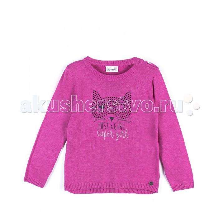 Детская одежда , Джемперы, свитера, пуловеры Coccodrillo Свитер для девочки Super girl арт: 402489 -  Джемперы, свитера, пуловеры