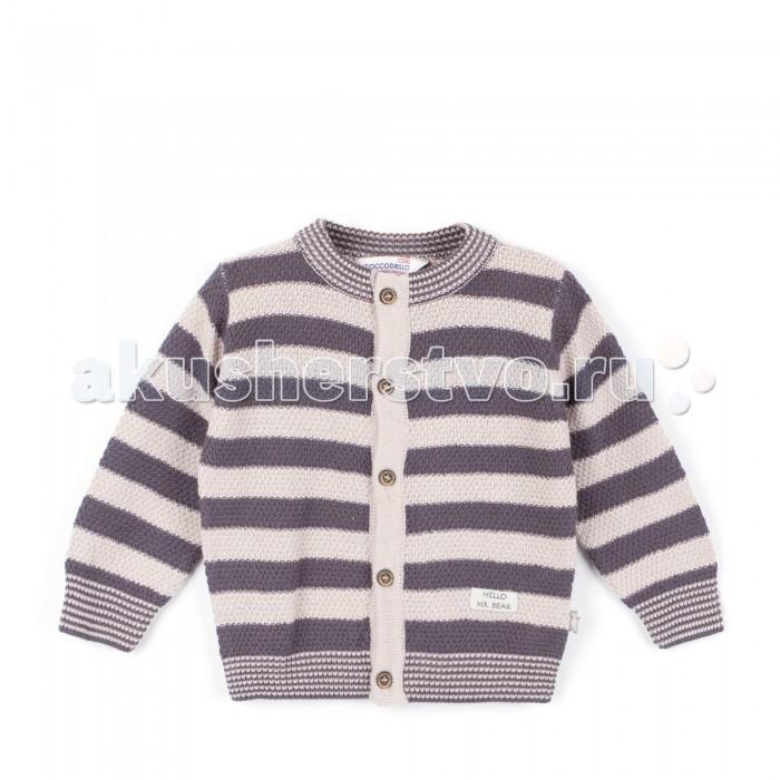 Детская одежда , Джемперы, свитера, пуловеры Coccodrillo Свитер для мальчика Hello Mr Bear арт: 378879 -  Джемперы, свитера, пуловеры