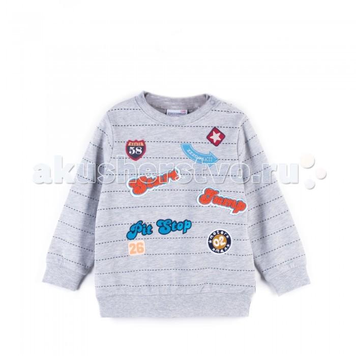 Детская одежда , Толстовки, свитшоты, худи Coccodrillo Свитшот для мальчика Hey Boy арт: 412619 -  Толстовки, свитшоты, худи