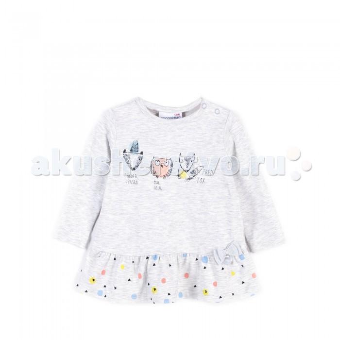 Детская одежда , Водолазки и лонгсливы Coccodrillo Туника для девочки Family Forest арт: 404859 -  Водолазки и лонгсливы