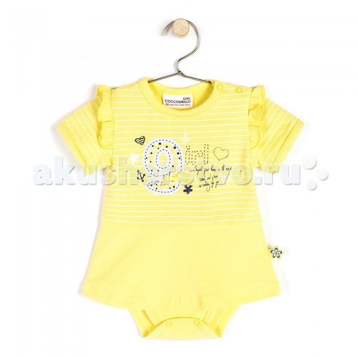 Детская одежда , Боди и песочники Coccodrillo Боди короткий рукав Sweet Girl арт: 326689 -  Боди и песочники