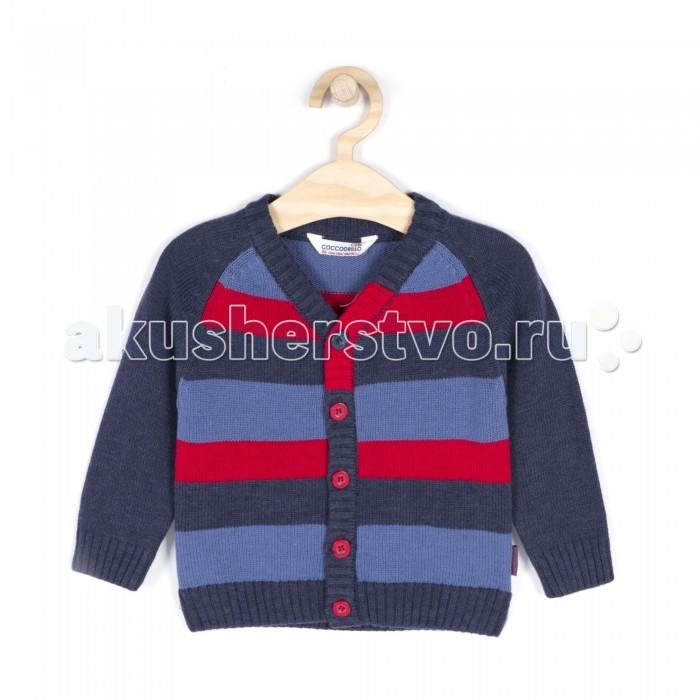 Детская одежда , Кофты и кардиганы Coccodrillo Кардиган для мальчика Gentlemen арт: 340685 -  Кофты и кардиганы