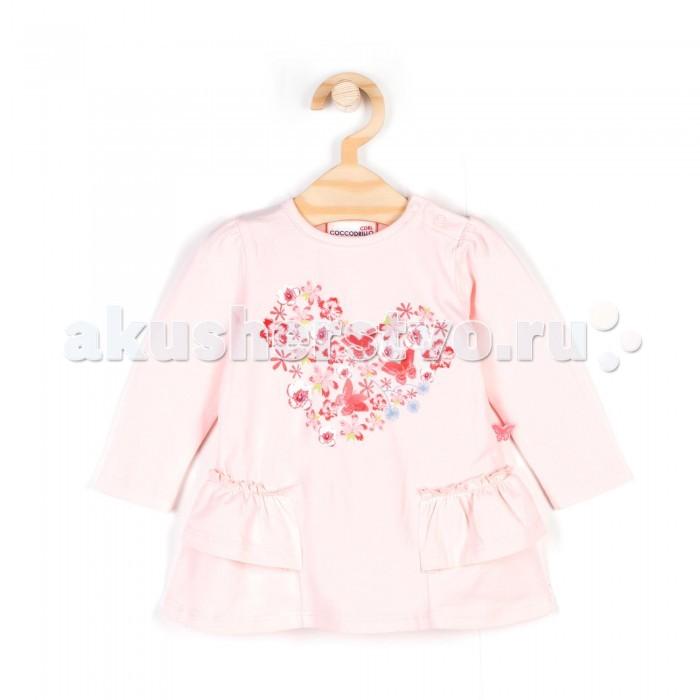 Детская одежда , Водолазки и лонгсливы Coccodrillo Туника для девочки Mon Jardin арт: 338780 -  Водолазки и лонгсливы