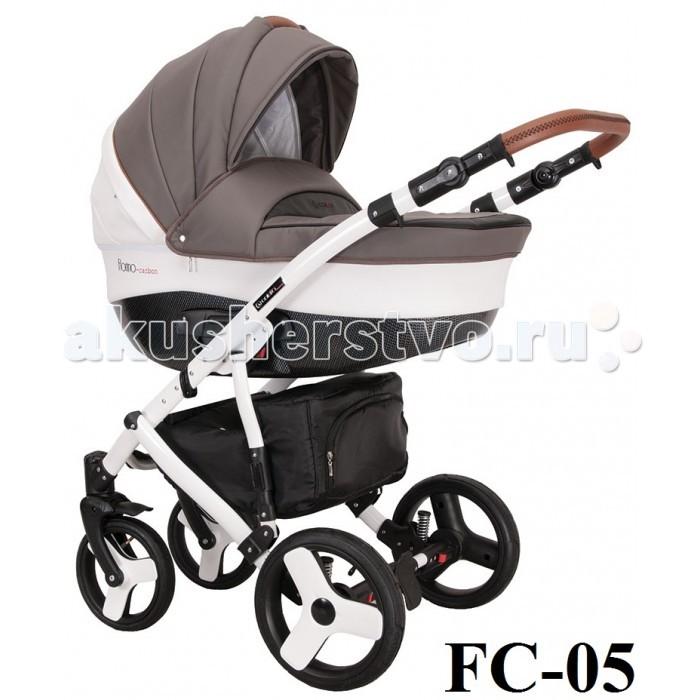 Коляска Coletto Florino Carbon 3 в 1Florino Carbon 3 в 1Благодаря вместительной, удобной люльке и эксклюзивной мягкой ткани, а также вставкам из эко-кожи Coletto Florino Carbon 3 в 1 предоставляет вашему ребенку суперкомфорт. В корзинке для покупок (на молнии) хватит места для необходимых вещей малышу и маме.   • каркас люльки: carbon • каркас коляски выполнен из прочного и легкого алюминия • колеса с подшипниками добавляют коляске надежность, устойчивость и вездеходность • 6 амортизаторов: мягкая подвеска с регулировкой амортизаторов, современная система подавления вибраций • блокировка передних колес • практичная, закрытая корзина для покупок • адаптеры для автокресла Maxi-cosi Pebble и Cabriofix, Romer  Люлька: • для детей с первого дня жизни до 6 месяцев • внутренняя обивка гипоаллергенна • в комплекте — съемный матрасик • отстегивающийся капюшон • в капюшон встроена ручка для транспортировки модуля • наклон спинки регулируемый • теплая накидка  Прогулочный блок: • для детей от 6 месяцев • все используемые материалы гипоаллергенны • усиленная боковая защита • оснащение защитным бампером • имеет мягкую перемычку-разделитель между ножек • наклон спинки регулируемый • высота подножки регулируемая • имеет мягкие валики-ограничители для боковой поддержки ног • отделка подножки выполнена из эко-кожи для простоты ухода • ремни безопасности пятиточечные с регулировкой длины • мягкие плечевые накладки • замок ремней безопасности спрятан в мягкий чехол • капюшон имеет вентиляционное окошко на молнии со встроенной антимоскитной сеточкой • большая теплая накидка на ноги  Автолюлька: • подходит для базы isofix Coletto • имеет 5-точечные ремни безопасности • вес: 4 кг  В комплекте: • накидка на ножки для прогулочного блока • накидка с высоким бортом для люльки • матрасик для люльки • дождевик • антимоскитная сеточка для люльки • текстильная корзина для покупок • сумка для мамы  Технические данные: • ручка регулируется по высоте 74-115 см • рама в собранном состоянии (д/в/ш): 