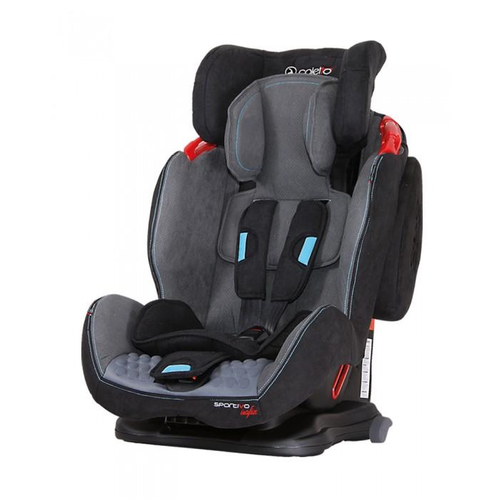 Автокресло Coletto Sportivo IsofixSportivo IsofixПольский бренд Колетто пользуется большой популярностью у европейских родителей - поскольку выпускаемые производителем автокресла, ничем не уступают более дорогим аналогам от крупных мировых брендов. Поэтому если вам нужно практичное и безопасное автокресло с креплением IsoFIx, то модель Sportivo станет оптимальным вариантом по соотношению цены и качества. Изделие подходит для детей с 8-9 месячного возраста и до наступления 11-12 лет.  При производстве Coletto Sportivo IsoFIx применяется качественные и практичные материалы, а эргономичный дизайн отлично впишется в интерьер вашего автомобиля. Для обеспечение максимальной безопасности вашего малыша в кресле предусмотрена система боковой защиты, спинка с мягкой боковой поддержкой и ударопоглащающими буферами, глубокий подголовник для фиксации и поддержки головы и шеи ребенка. Благодаря наличию мягких вкладышей, а так же удобных подлокотников изделие превосходно подходит даже для длительных поездок на машине. Отдельно стоит отметить возможность регулировки спинки и подголовника.  Особенности автокресла Coletto Sportivo IsoFix:  автокресло предназначено для детей весом: 9-36 кг (9 месяцев - 12 лет группа I+II+III)  есть система Isofix и ремень Top tether автокресло имеет краш-тесты, выполненные в Институте в Нидерландах, имеющей один из самых оснащенных объектов исследования в мире для выполнения краш-тестов  система SPS: специальные боковые подушки, заполненные пеной поглощают энергию бокового удара, прежде чем она доходит до малыша, что делает автокресло на 25% безопаснее  4 позиции регулировки положения  7 позиций регулировки подголовника  низкая база автокресла  5-точечные ремни безопасности с бортиками  регулировка высоты ремней  сидение изготовлено из материала, обеспечивающего комфорт и предотвращающего запотевание  закрытый регулятор ремней  Технические характеристики: вес: 11 кг  высота спинки: min 58 см, max 68 см  ширина спинки: 27 см<br>