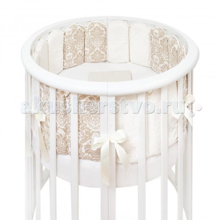 Бортик в кроватку Colibri&Lilly Damask Round в круглую и овальную кроватку