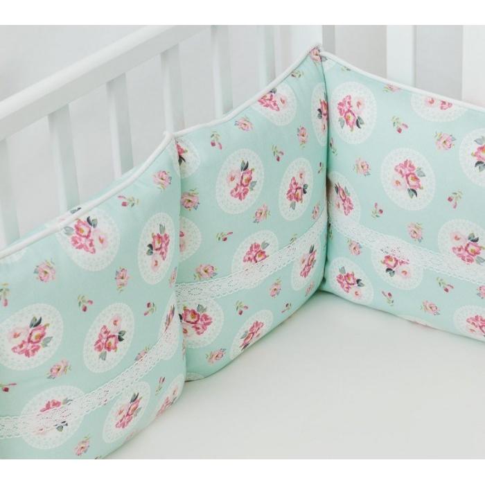 Бортик в кроватку Colibri&Lilly Lady Rose 120х60 см