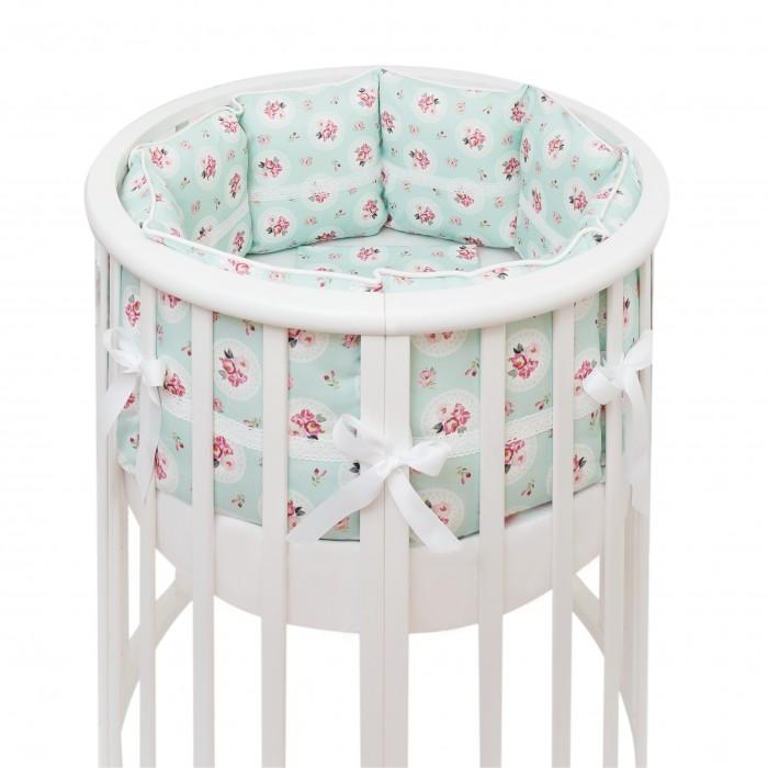 Бортик в кроватку Colibri&Lilly Lady Rose Round в круглую и овальную кроватку