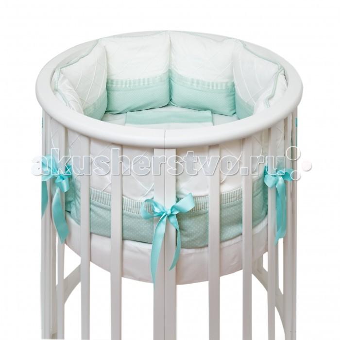 Комплект в кроватку Colibri&Lilly Mint Round (7 предметов)