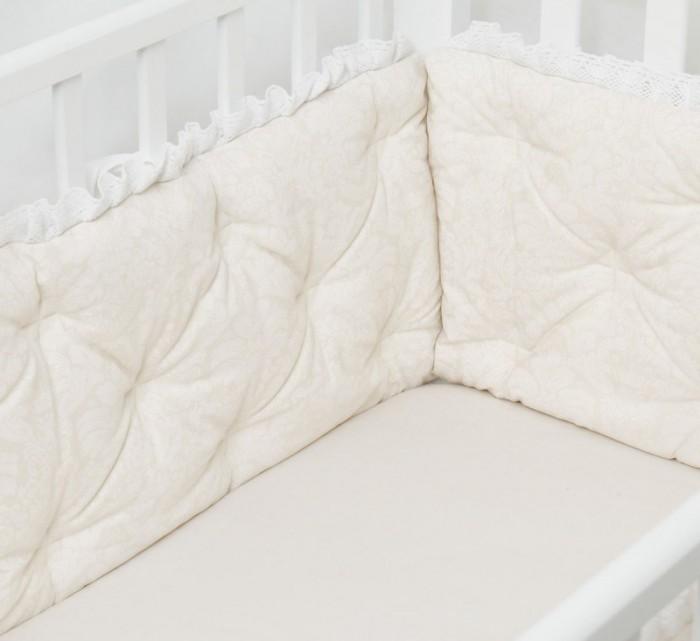 Бортик в кроватку Colibri&amp;Lilly Rafaello Pillow 120х60 смRafaello Pillow 120х60 смБортик в кроватку Colibri&Lilly Rafaello Pillow 120х60 см  на весь периметр кроватки.    Бортик состоит из 6 прямоугольных подушек размером 60 х 30 см. Чехлы не съемные. Ткань: перкаль (100% хлопок)  Наполнитель: полиэфирное волокно (холлофайбер) Перкаль - это высококачественная хлопковая ткань, отличающаяся большой плотностью переплетения нитей, что придает ткани практичность, износостойкость и долговечность.  Хлопок абсолютно гипоаллергенен и безопасен для малыша и позволяет нежной коже дышать, прекрасно впитывая влагу.  Холлофайбер - безопасный и гипоаллергенный материал, не крошится, не дает усадки, формоустойчив (бортик плотно прилегает к кроватке, не прогибается), воздухопроницаемый, долговечный.<br>