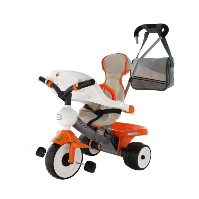 Велосипед трехколесный Coloma Angel DIAngel DIВелосипед трехколесный Coloma Angel DI - невероятно легкий с игровой панелью.  Особенности: Особенность этого велосипеда от других- его высокое сверхэргономичное сиденье с 3-х точечными ремнями, с бортиками внизу - это очень безопасно для малышей, которые не сидят на месте. Его уникальная особенность - новейшая технология бархатного пластика. Вы почувствуете это как только прикоснетесь к нему.  И еще одна изюминка этого велосипеда - большая игровая панель, которую можно снять. Ваш малыш в поездке будет занят игрой.  Мягкие бесшумные прорезиненные колеса EVA по современной технологии двойного вспрыскивания каучука в твердое резиновое шасси колеса.  Барьер безопасности, очень приятный пластик на ощупь-настоящий бархат. Новая идея установки съемных подножек-на вилку переднего колеса. Она позволяет ребенку учиться тянуть ножки к педалям: сначала он ставит их на подножки, и довольно скоро он просто опустит ножки и будет крутить педали самостоятельно. В любой момент подножки можно снять-это несложно.  Усиленная родительская ручка меняется по высоте  в 3-х положениях, под любой рост взрослого. С помощью этой ручки можно преодолеть любые препятствия: бордюры и ступени.  Большая сумка для мамы.  Европейский пластик не выгорает и не деформируется под воздействием температур.  Рекомендуется для детей от 1 года. Размеры: 74х48,5х64/97 см<br>